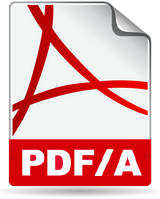 PDF/A is an ISO-standardized version of the PDF specialized for use in the archiving and long-term preservation of electronic documents